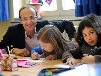 Bruno Piacenza conducts a lesson as sustainability ambassador.